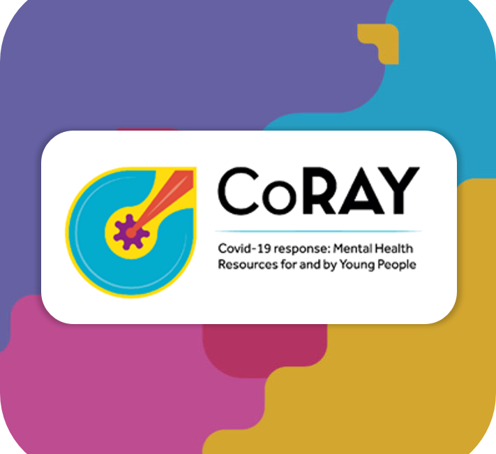 Co-RAY logo on Emerging Minds background