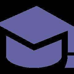 purple mortar board