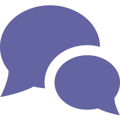 purple speech bubbles
