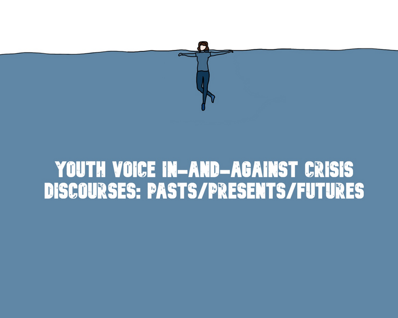 Youth Voice - in - and -against crisis discourses: Pasts/Presents/Futures - someone swimming in the middle of the sea